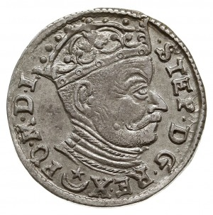 trojak 1583, Wilno, odmiana z herbem Leliwa pod małym p...