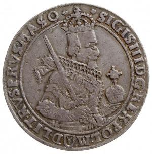 talar 1630, Bydgoszcz, Aw: Wąskie popiersie króla z kok...