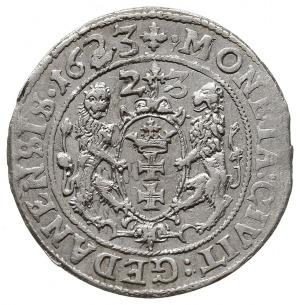 ort 1623, Gdańsk, rzadsza odmiana z datą na rewersie pe...