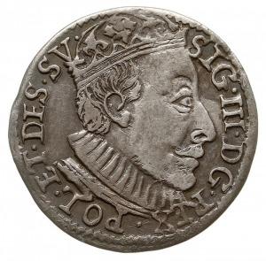 trojak 1588, Olkusz, awers typowy dla trojaków z tarczą...