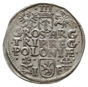 trojak 1595, Wschowa, Iger W.95.4.c (R), moneta z końca...