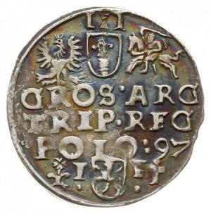 trojak 1597, Wschowa, Iger W.97.1.-/h, nowa odmiana z n...
