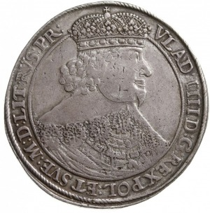 talar 1640, Gdańsk, Aw: Popiersie króla w prawo i napis...