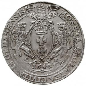 talar 1641/0, Gdańsk, Aw: Popiersie króla w prawo, w ko...