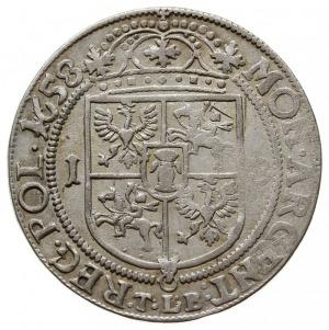 ort 1658/TLB, Kraków, herb Wieniawa i litery T.L.B. (Ty...