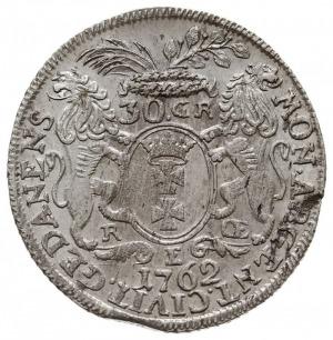 30 groszy (złotówka) 1762, Gdańsk, Kahnt 719.a - na rew...