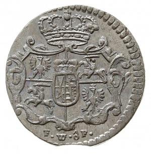 1/48 talara (półgrosz) 1756 FWôF, Drezno, Kahnt 604, źl...