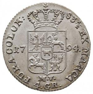 złotówka 1794, Warszawa, odmiana z napisem 83 1/2, Plag...