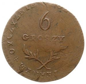6 groszy 1813, Zamość, odmiana z napisem otokowym na re...
