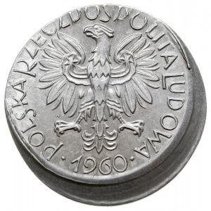"""5 złotych 1960, Warszawa, """"Rybak"""", Parchimowicz 220c, n..."""