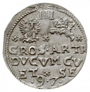 trojak 1597, Mitawa, Iger KuF.97.1.d (R3), Gerbaszewski...