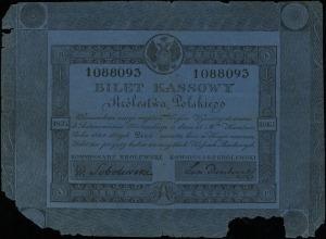 5 złotych 1824, numeracja 1088093, podpisy komisarzy: W...