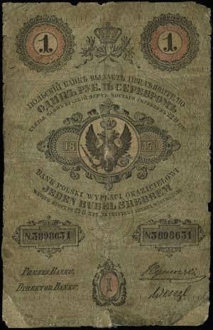 1 rubel srebrem 1847, seria 66?, numeracja 3898631, pod...