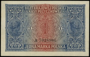 1 marka polska 9.12.1916, jenerał, seria A, numeracja 7...