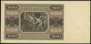 500 złotych 1.07.1948, seria AC, numeracja 4741470, Luc...