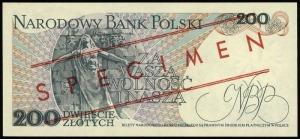 200 złotych 1.06.1982, seria BU, numeracja 0000000, cze...