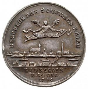 medal autorstwa Jerzego Wilhelma Kittel'a z 1745 roku w...