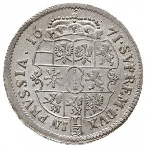 1/3 talara 1671 TT, Królewiec, v.Schr. 664, Neumann 11....