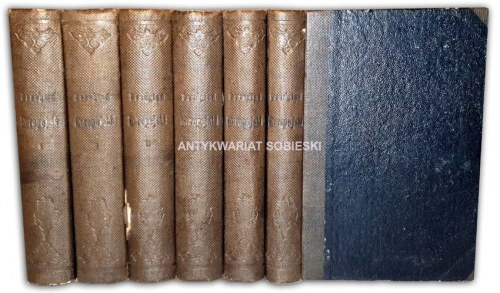 KRASZEWSKI - PRZEGLĄD EUROPEJSKI, NAUKOWY, LITERACKI I ARTYSTYCZNY t.1-6 (komplet w 6 wol.); Napoleon. Historya wyprawy 1815 roku i inne...