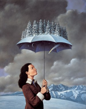 Rafał Olbiński (ur. 1943), Zimowy parasol