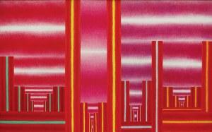 Zofia Artymowska (1923-2000), POLIFORMY CXXII - SPOTKANIE W BABILONIE, 1987 r.