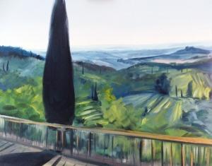 Jacek Malinowski, Gelato sulla terrazza a San Gimignano