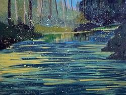 J.Malinowski, Krajobraz z Jeziorem III
