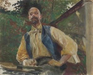 Malczewski Jacek, AUTOPORTRET W OGRODZIE, 1906