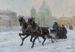 Wasilewski Czesław (I. Zygmuntowicz), SANIAMI PRZEZ PLAC TRZECH KRZYŻY, 1915
