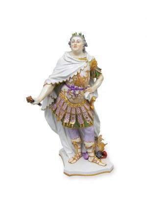 Figura Augusta III Sasa w stroju cesarza rzymskiego