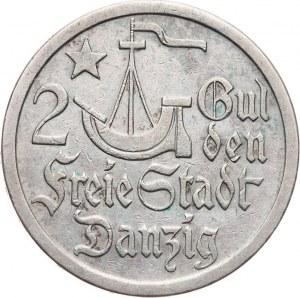 Polska, Wolne Miasto Gdańsk 1920-1939, 2 guldeny 1923, Utrecht, Koga