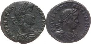 Cesarstwo Rzymskie, Konstancjusz II 324-361 jako cezar 316-337, zestaw 2 follisów