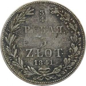 Zabór Rosyjski, Mikołaj I 1825-1855, 3/4 rubla/5 złotych 1841, Warszawa.
