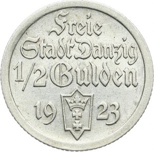Wolne Miasto Gdańsk 1920-1939, 1/2 guldena 1923, Utrecht.
