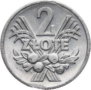 PRL 1944-1989, 2 złote 1958 Jagody, destrukt