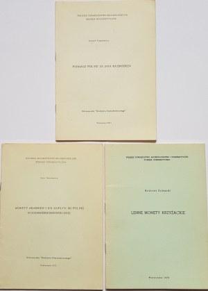 Kmietowicz, Schmidt, Wojtulewicz - LOT 3 BROSZUR
