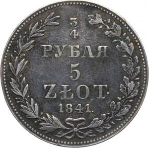Zabór Rosyjski, Mikołaj I 1825-1855, 5 złotych - 3/4 rubla 1841 MW, Warszawa