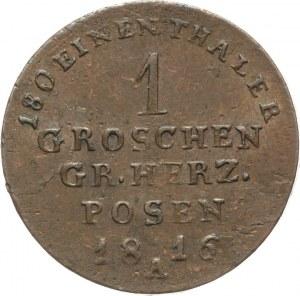 Wielkie Księstwo Poznańskie, Fryderyk Wilhelm III 1797-1840, 1 grosz 1816 A, Berlin