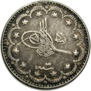 Turcja, Imperium Otomańskie, Mehmed V AH1327-1336, 5 piastrów AH1330, Konstantynopol