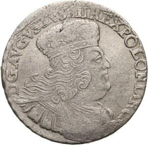 Polska, August III 1733-1763, dwuzłotowka (8 groszy) 1753, Lipsk,