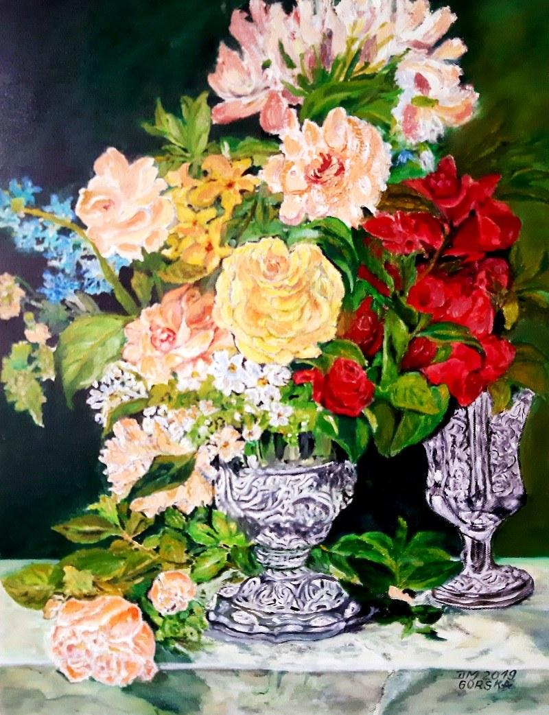 Danuta Górska, Kwiaty w wazonie