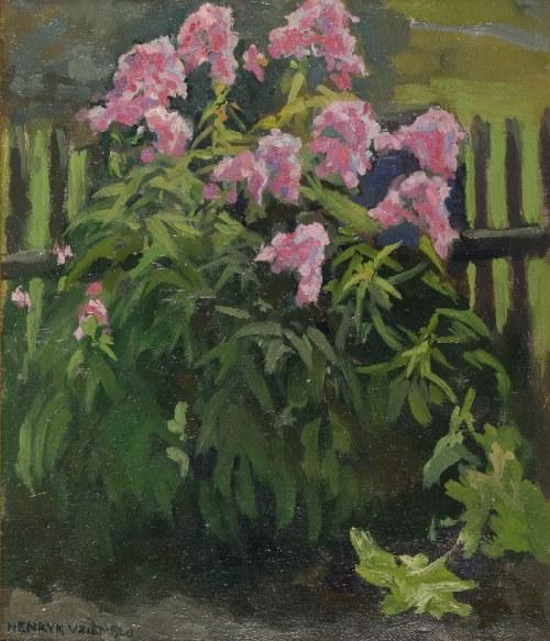 Henryk UZIEMBŁO (1879-1949), Kwiaty w ogródku