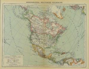 Spamers GROSSER, Mapa Północnej Ameryki, Hand-Atlas, 1900