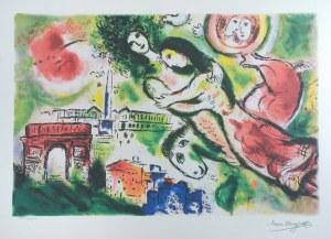Marc CHAGALL (1887-1985) - według, Zakochani nad miastem 2099