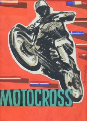 Bogdan WRÓBLEWSKI (1931-2017), Motocross, lata 80. XX w. - projekt plakatu