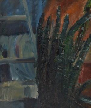 Malarz nieokreślony, Martwa natura z kwiatem, 1984