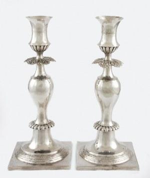 Dethlef DETHLEFSEN (czynny 1840-1853), Para lichtarzy jednoświecowych