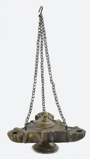 Lampa oliwna z przykrywką