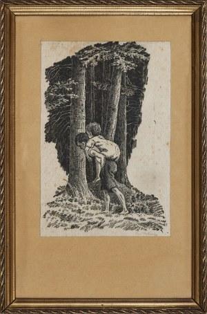 Jan Wałach (1884 - 1979), Idąc lasem, 1940