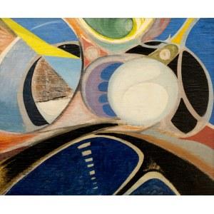 Jan ZIEMSKI, Kompozycja abstrakcyjna II, 1958